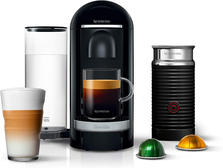 Nespresso Vertuoline With Aeroccino Plus Automatic Milk Frother - Vetuo Plus by Breville