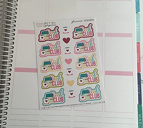 Amazon.com: BOOK CLUB Planner Stickers,Erin Condren Stickers ...
