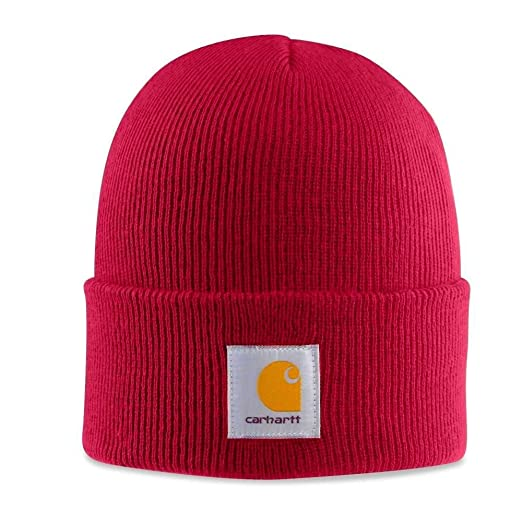 Carhartt - Acrylic Watch Cap - Independence Red Mens Branded winter hat  beanie  Amazon.co.uk  Clothing efea379b55d
