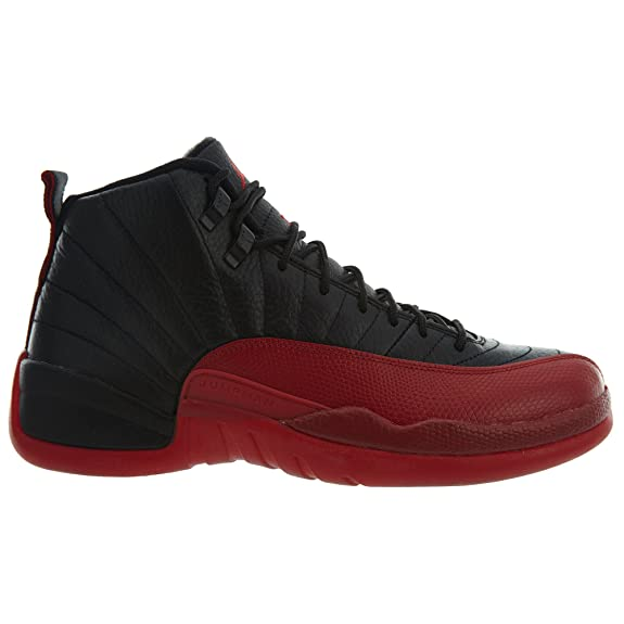 Amazon.com | Jordan 130690-002 Men AIR 12 Retro Black/Varsity RED | Basketball