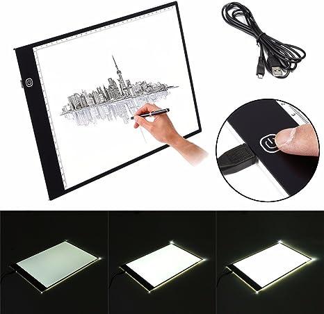 Zeichnen Leuchttisch Leuchtplatte Leuchtk/ästen Copy Board zum Handwerk Animations Skizze Tattoo Maler Fulllove Einseitig A4 LED Dimmbare Light Pad