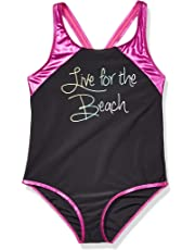 Big Chill Girls One Piece Swimsuit with Fun Prints One Piece Swimsuit