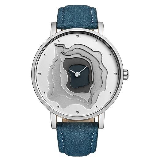 Estilo de Moda para Mujer Reloj de Cuarzo Correa de Cuero de Cara Grande Reloj de Vestido Informal STARKING: Amazon.es: Relojes