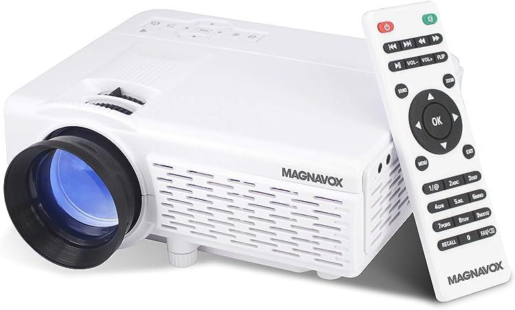 Magnavox - Proyector portátil para el hogar con tecnología inalámbrica Bluetooth: Amazon.es: Electrónica