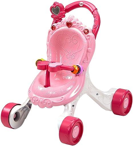 Fisher-Price Andador Cochecito de Muñecas, correpasillos bebé +9 meses (Mattel CGN65