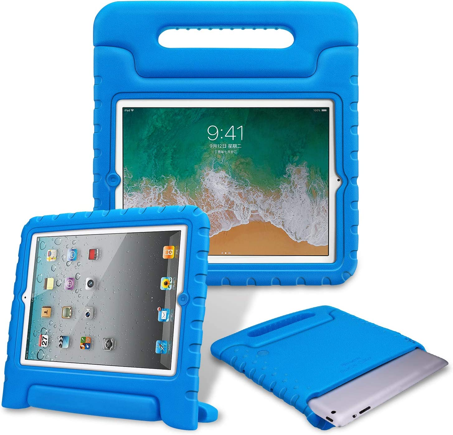 Fintie Kiddie Case for iPad 2/3/4 (Old Model) - Light Weight Shock Proof Convertible Handle Stand Kids Friendly for iPad 4th Generation with Retina Display, iPad 3 & iPad 2 - Blue