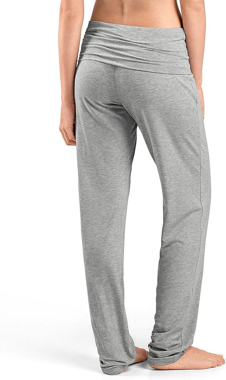 Hanro Women's Yoga Sports Trousers Grey (Grit Melange 1148)