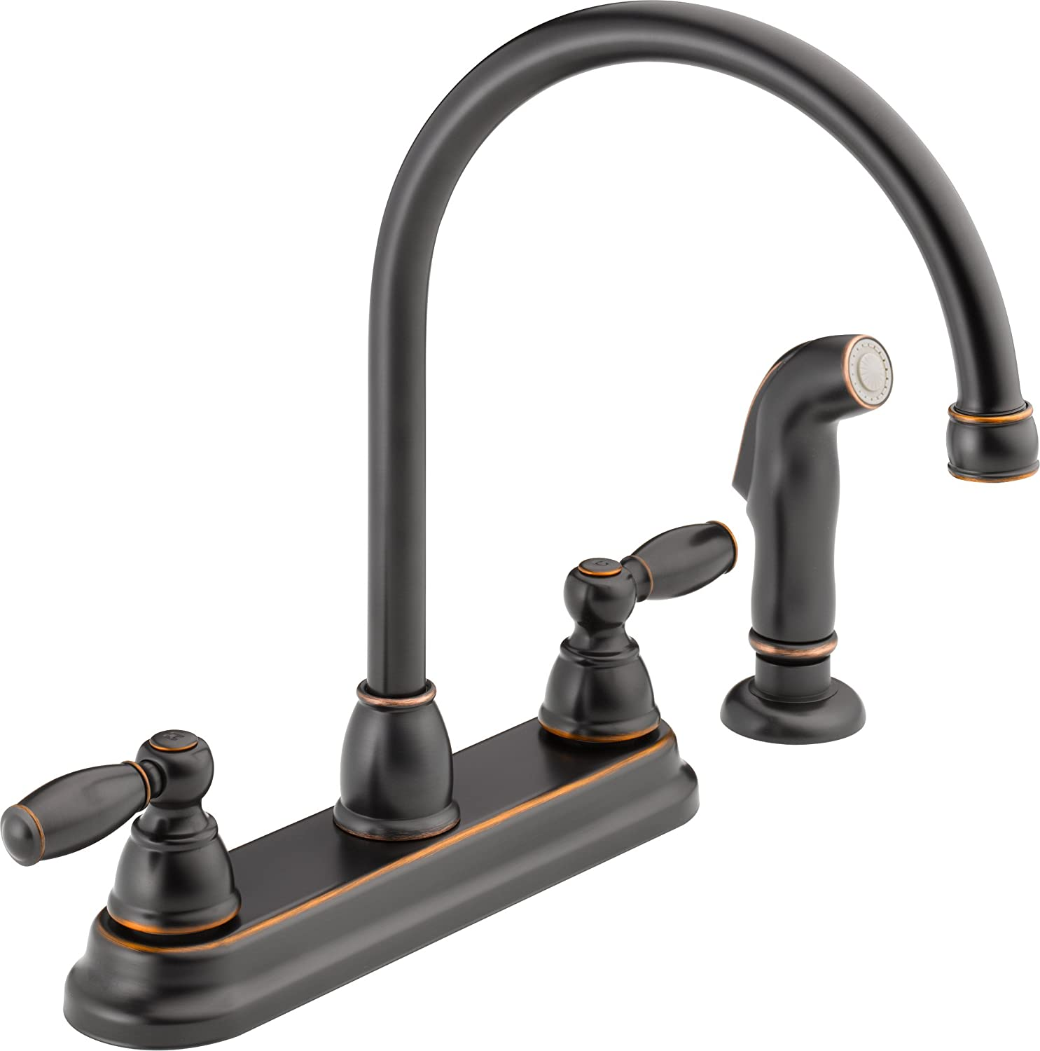 Peerless P LF OB Apex Two Handle Kitchen Faucet with Spray