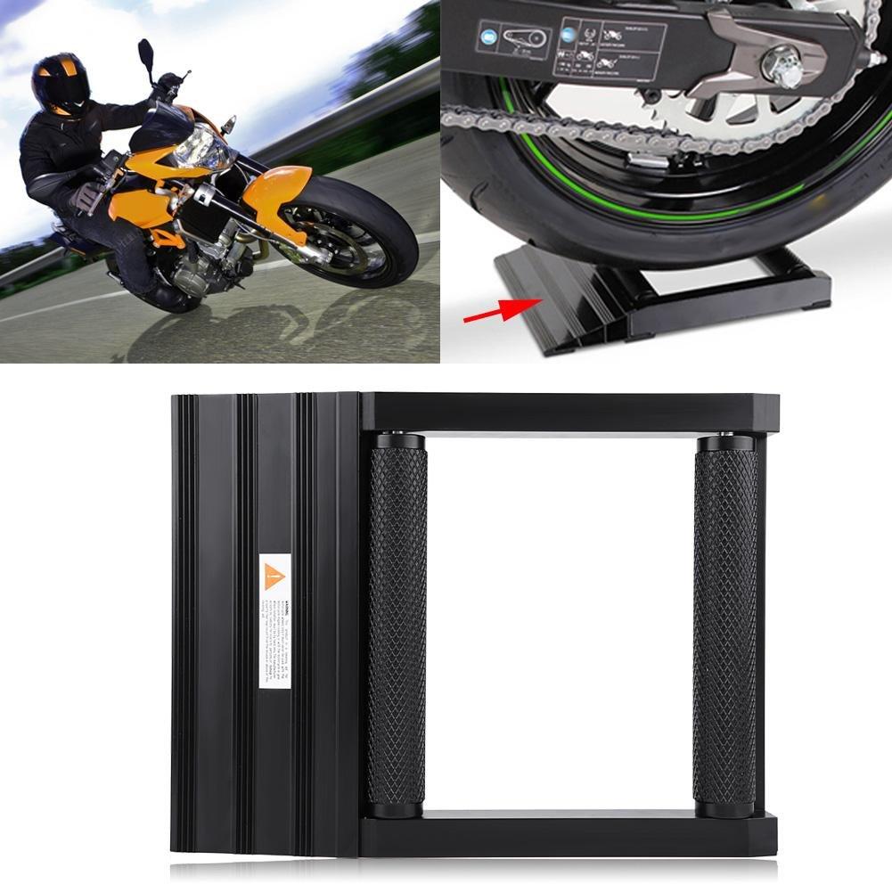 Motorrad Kettenreinigungsst/änder Max Gewicht 400kg Motorrad Bike Cleaning Stand Hinterrad Drehhilfe aus Aluminium