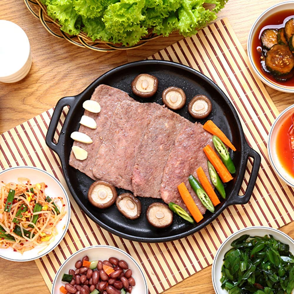 Casserole, pan made of ceramics   steak pizza baking tray   suitable for induction   diameter 29 2.5cm round, uncoated pot heat resistant 800 ° C,322.5CM by DOKJ (Image #2)