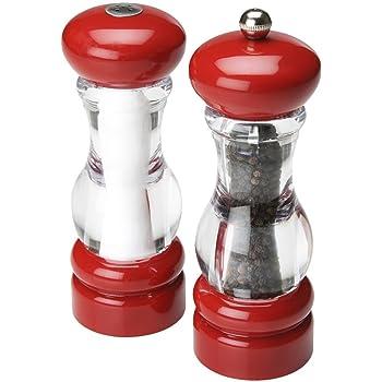Amazon Com Trudeau Pepper Mill And Salt Shaker Set