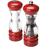 Olde Thompson Del Norte Red Pepper Mill & Salt Shaker Set