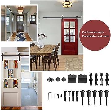 niceao Home Cocina Salón Dormitorio Casa Sistema de riel Puerta corrediza Puerta Track Madera Puerta Corredera hardware Fitting Set: Amazon.es: Bricolaje y herramientas