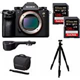 Sony a9 Full Frame Mirrorless Camera (Body) (ILCE9/B) w/ Sony GPX1EM Grip Extension + 256GB Extreme PRO Bundle