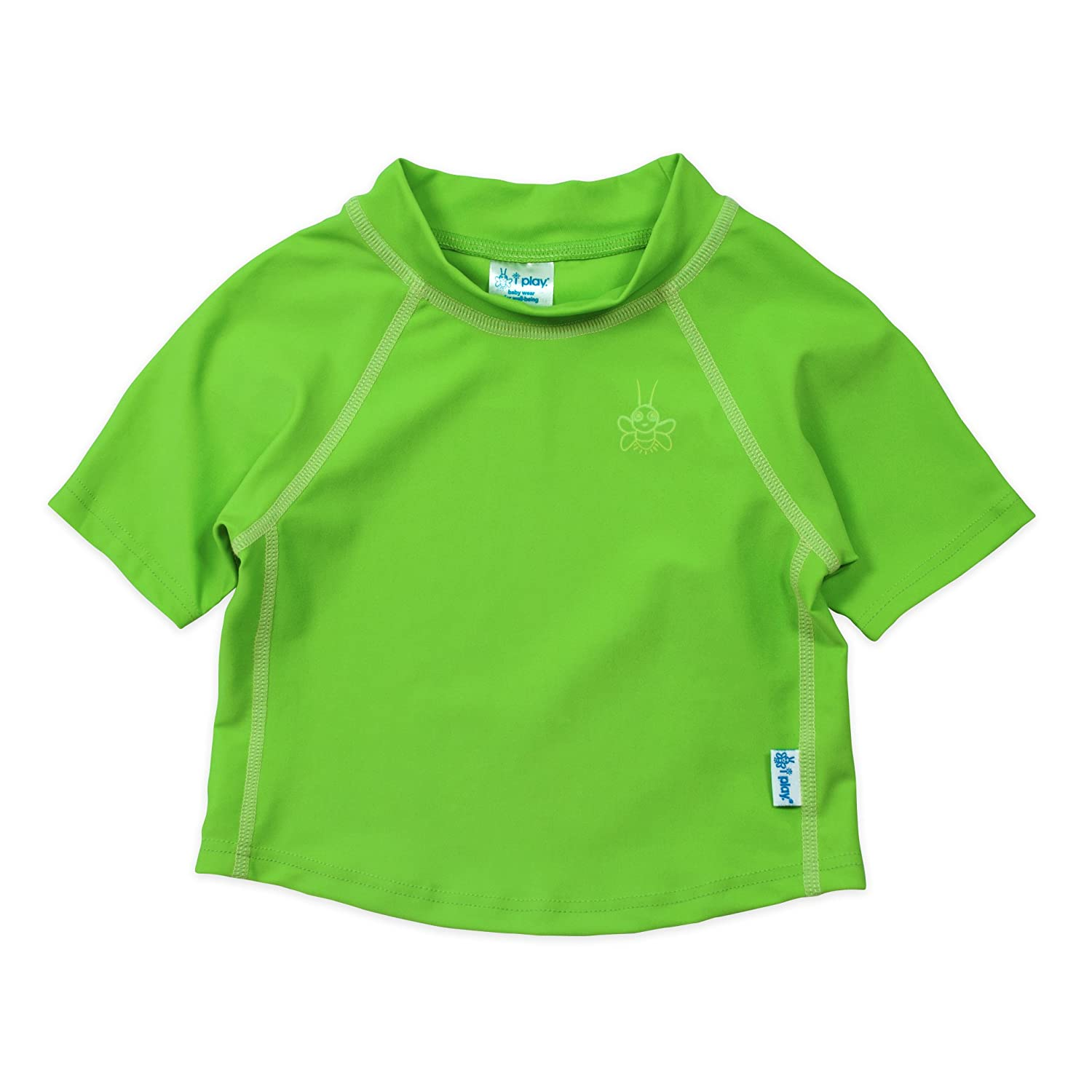 i play. Boys' Baby Unisex Short Sleeve Rash Guard UPF 50+