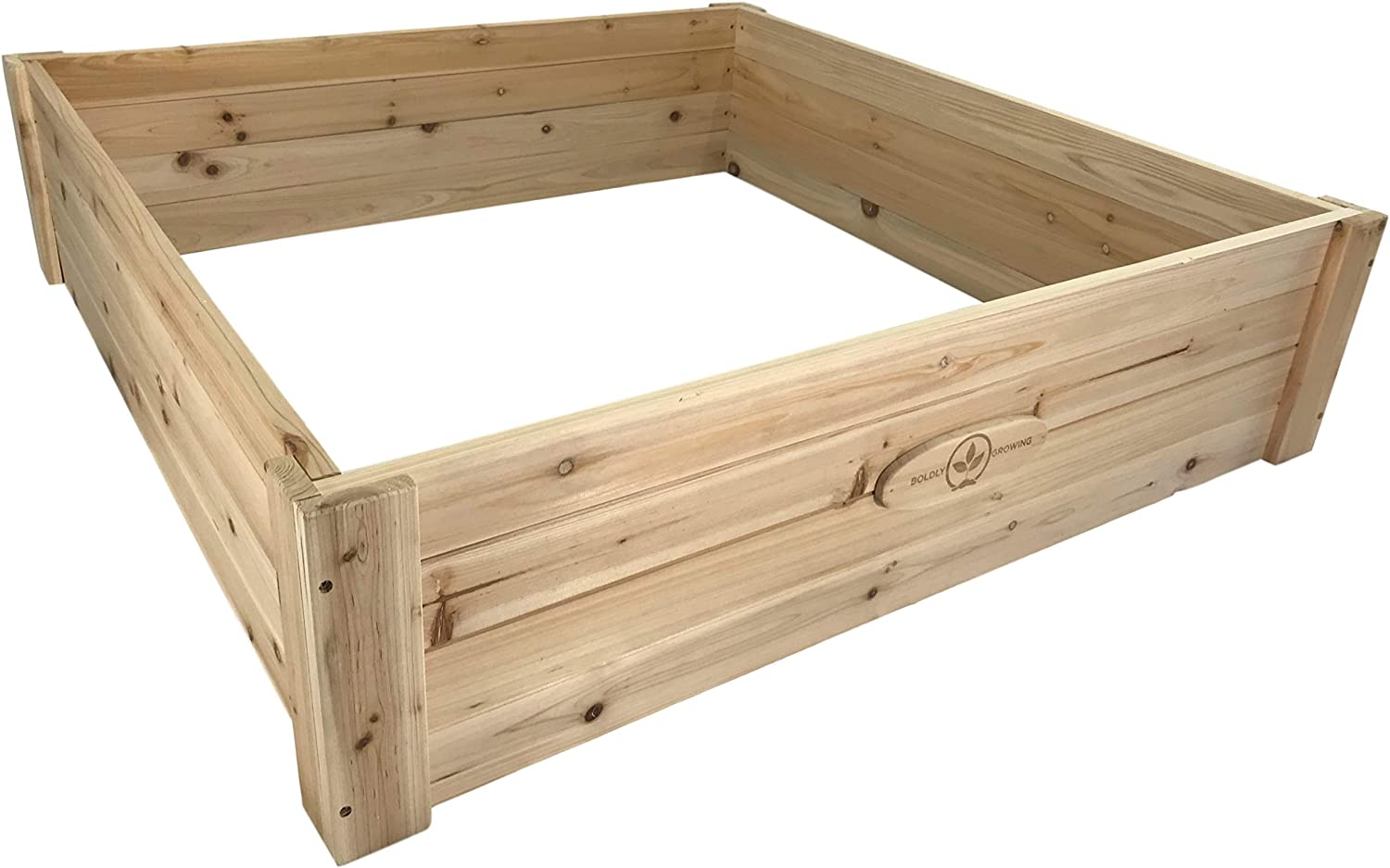 Cedar Raised Garden Bed Kit – Elevated Ground Planter for Growing Fruit/Vegetables/Herbs – (47 x 47 x 11) inches – Natural Rot-Resistant Wood Beds Last 5+ Years Outdoors
