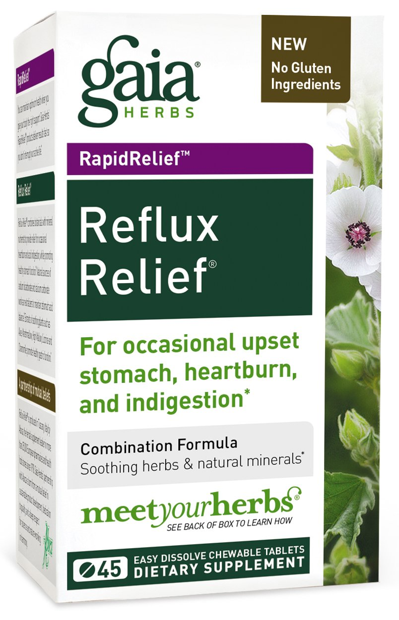 Cheapest amazon herbs - Gaia Herbs Rapidrelief Reflux Relief Tablets 45 Count