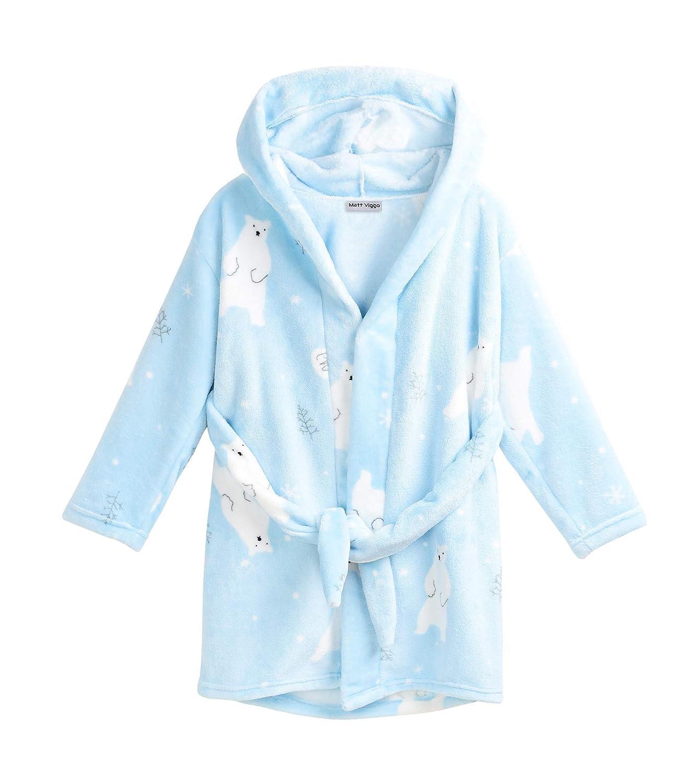 Matt Viggo-Pyjama Robe de Chambre Peignoirs Enfant V/êtement Hiver Fille et Gar/çon Unisexe Souple Flanelle avec Capuche B/éb/é Costume Douche Bain