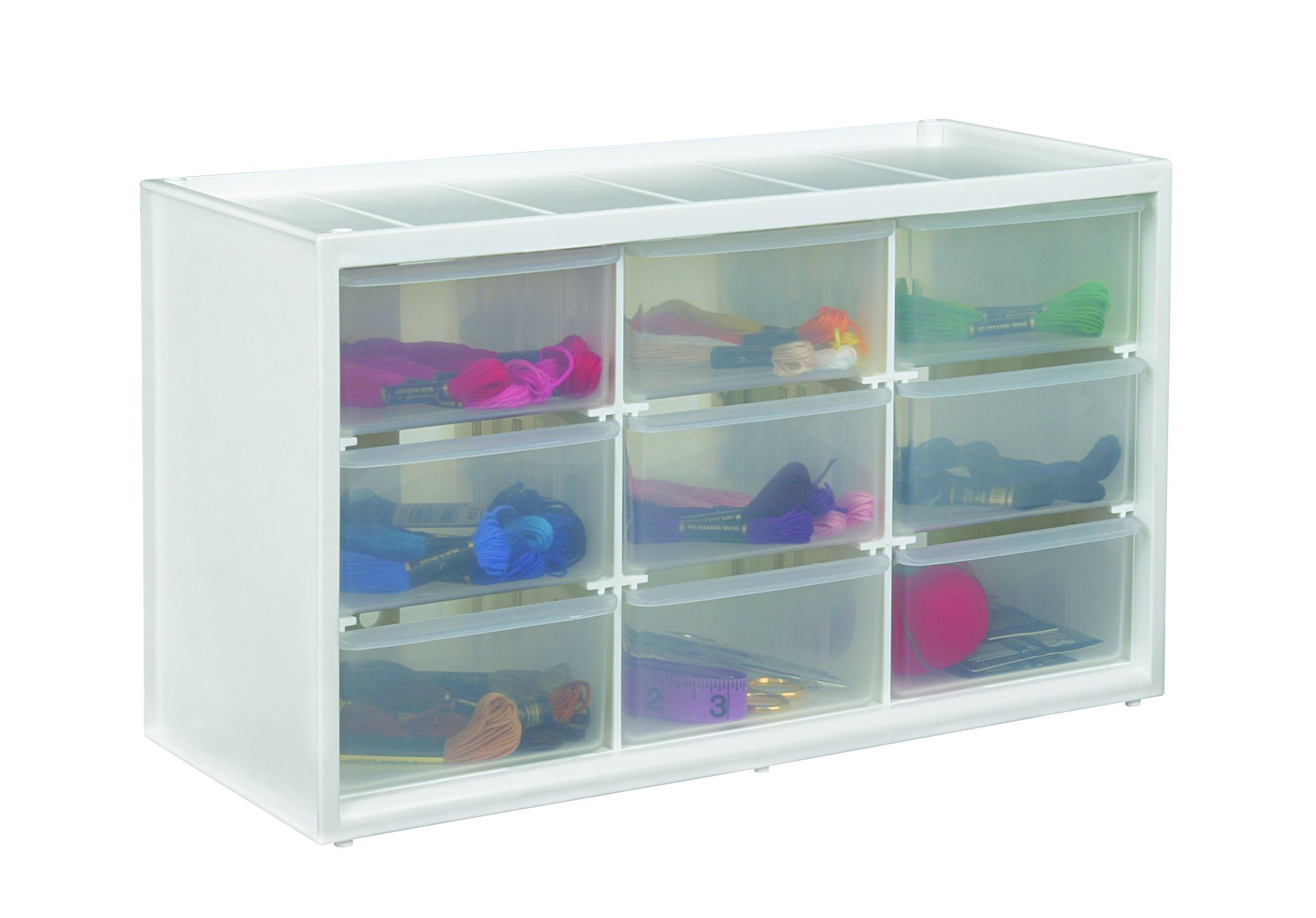 ArtBin Store-In-Drawer Cabinet; 9 Art and Craft Supply Storage Drawers, 6809PC