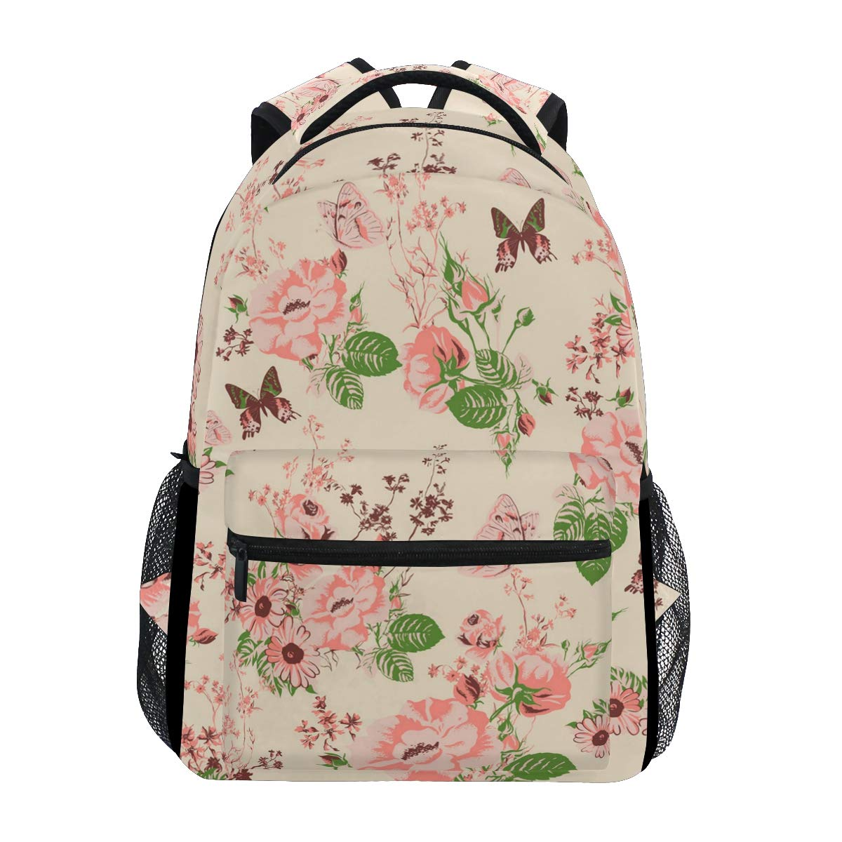edf4869b4b8 Golden Rose Petals Trekking Backpack Fashion Backpack Oversized Backpack  Men and Women Durable Travel Computer Backpack 17 Inch Notebook Waterproof  Large ...
