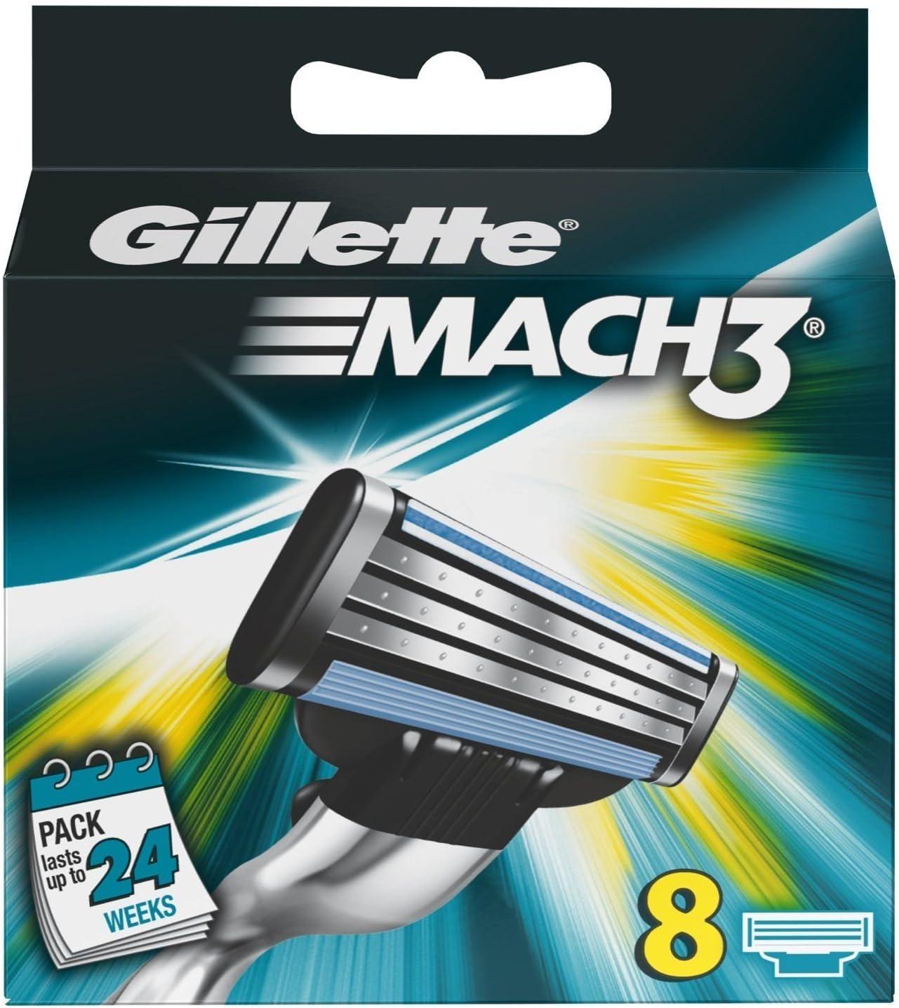 Gillette Gillette M3 Gillette Mach 3 Blades (Pack of 8): Amazon.es ...
