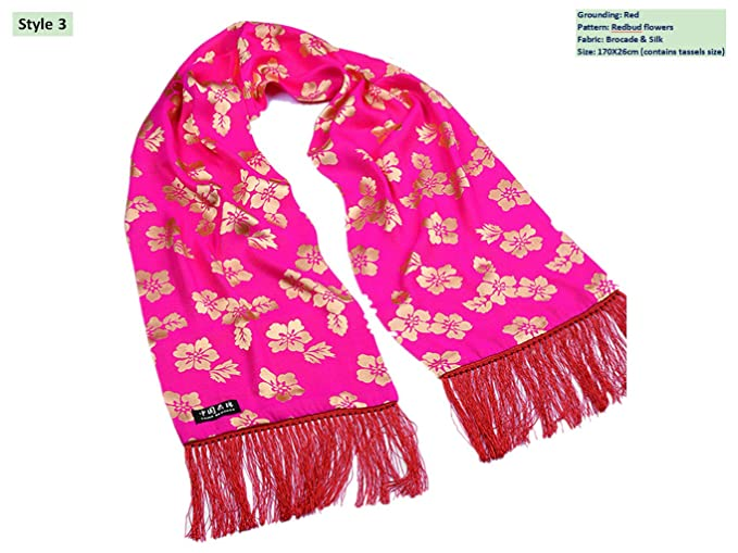 3598ec4b4 Image Unavailable. Image not available for. Color: Brocade Shawls Mulberry  Silk Scarves ...