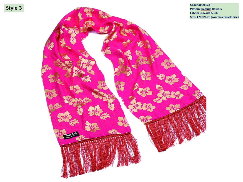 Brocade Shawls Mulberry Silk Scarves Business Gifts Handicrafts Silk stoles