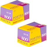 Pack of 2 Kodak 145 1855 Professional Portra 800 Color Negative Film (ISO 800) 35mm 36 Exposures
