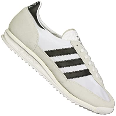 adidas Original SL 72 Baskets Pour Femmes Hommes Vintage Spécial Chaussures  Blanc et Noir - Blanc