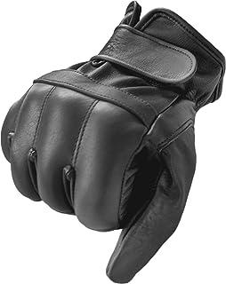 Rindsleder Handschuhe mit Bleistaubfüllung an Handrücken und Knöcheln fingerlos