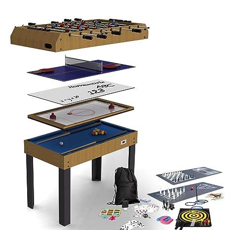 e7443831e350d Riley 4 in 1 Tavolo da Gioco Ripiegabile 12 Giochi biliardino ...