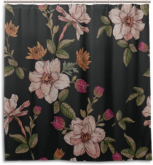 Amazon.com: engree Bathroom Shower Curtains Narcissus Flower Wild