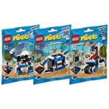 Lego, Mixels Series 7 Bundle MCPD set, KUFFS (41554), BUSTO (41555), TIKETZ (41556) Combine to Build MCPD MAX!