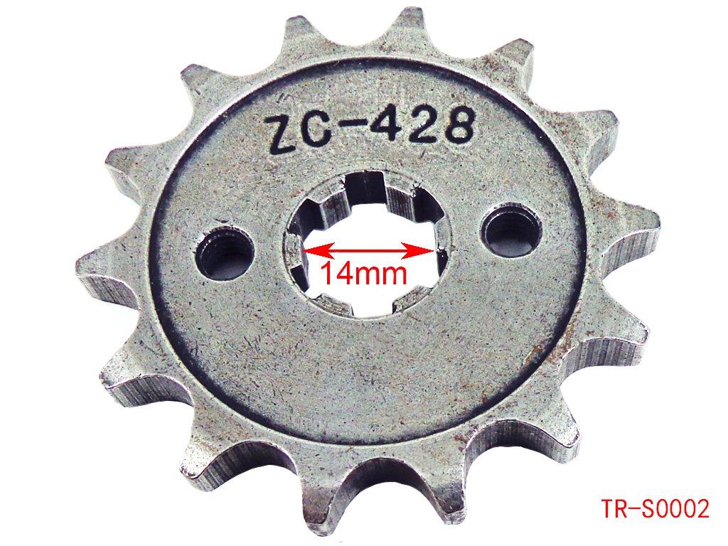 Engine Chain Sprocket 428 14 Teeth for 50cc 90cc 110cc 125cc Chinese ATV Dirt Bike Quad TaoTao Roketa Sunl Kids ATV Parts 4333360068