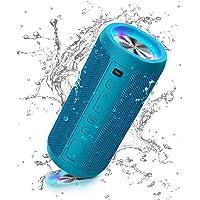Ortizan Altavoz Bluetooth Potente Portatil X10P Azul con Luz LED de Color Hay Volumen Alto y Graves Potentes, Batería…