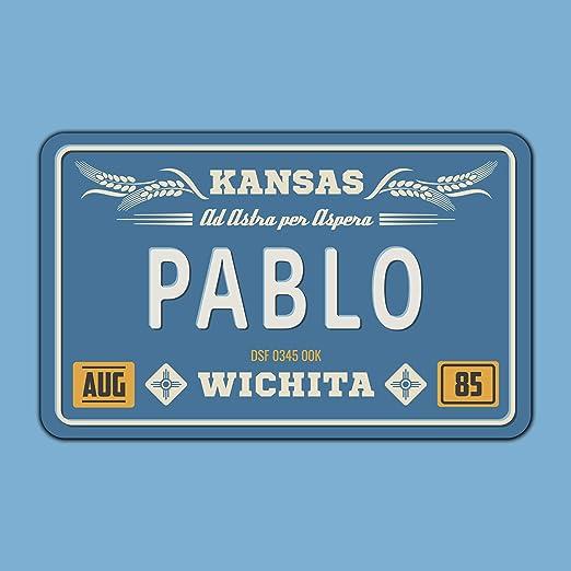 Megadecor Placa de Matrícula Decorativa de Aluminio o PVC Impreso de Estilo Vintage Americano Personalizado con Nombre 100% Personalizable 8 Modelos (Kansas, Aluminio Dibond 3 mm): Amazon.es: Hogar