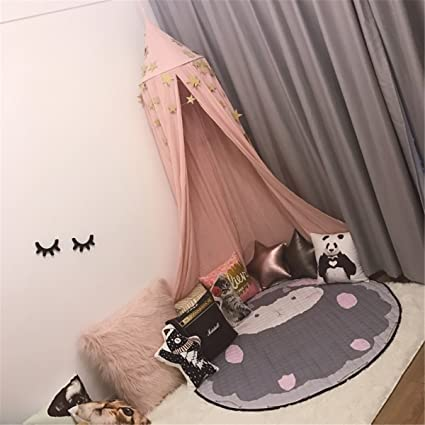 Jeteven Cotton Canvas Dome Bed Canopy Kids Play Tent Mosquito Net For Baby  Kids Indoor Outdoor