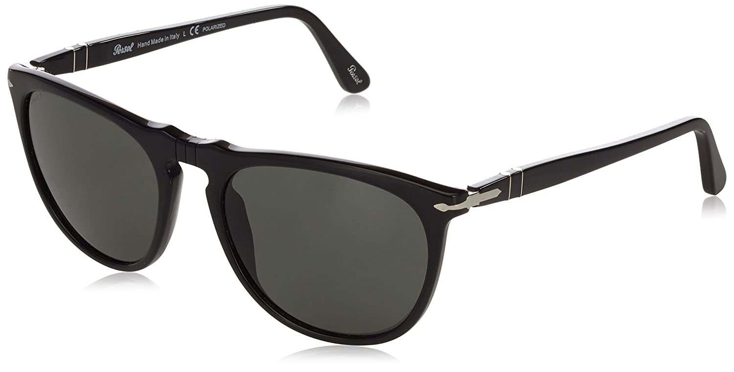 91c7491975b Persol 3114S 95 58 Black 3114S Wayfarer Sunglasses Polarised Lens Category 3   Amazon.co.uk  Clothing