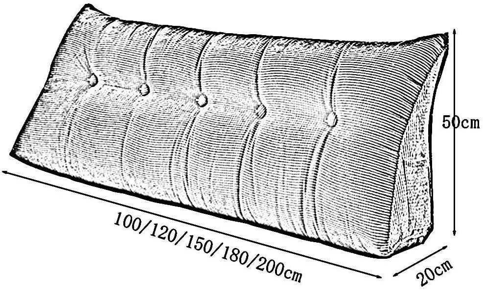 Coussin Canapé Coussin Triangle Tête de lit Coussin Dossier Canapé-lit Sac Souple Épaississement Support Lombaire Lavable A + (Couleur: A, Taille: 180 cm) F