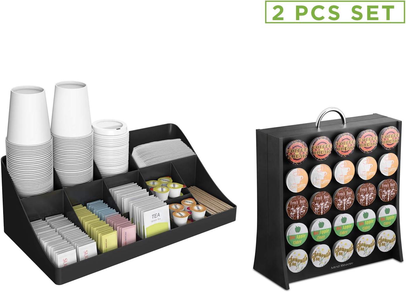 Paper Cup Holder Dispenser Organizer Rack Stand Cafe Breakroom Storage Q