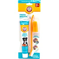 Arm and Hammer Advanced Care Fresh Breath and Whitening Toothpaste, Toothbrush and Finger Toothbrush Set for Dogs
