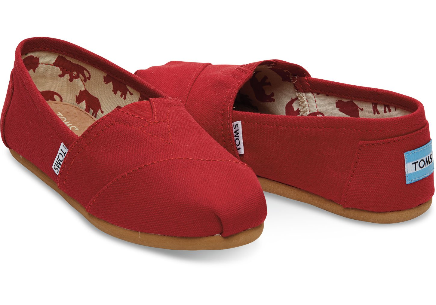 TOMS Youth Classic Casual Shoe (6 B(M) US, red.Canvas)