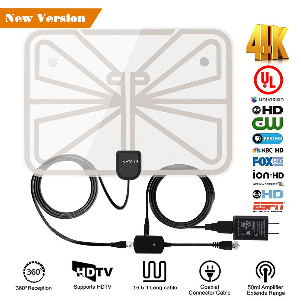 Amazon.com: TV Antenna,2018 Upgrade Digital TV Antenna Best 50+ ...