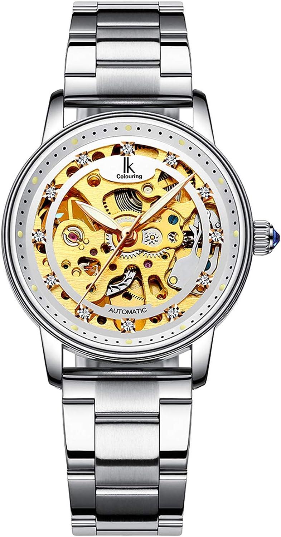 Zeiger New Women Luxury Ladies Analog Quartz Round Watch Bling Jewelry Plated Classic Watch Crystal Charm Bracelet