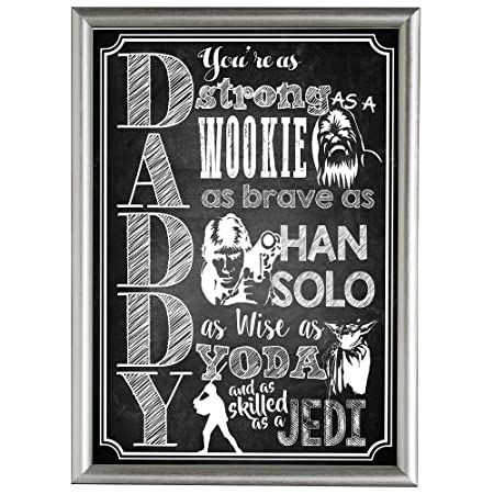 father s day star wars themed poster amazing gift for dad daddy him