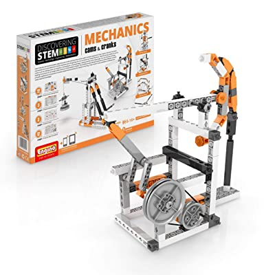 Engino Discovering STEM Mechanics Cams & Cranks | 8 Working Models | Illustrated Instruction Manual | Theory & Facts | Experimental Activities | STEM Construction Kit: Toys & Games