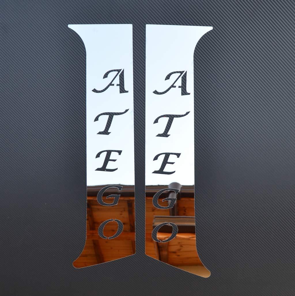 2 Cubiertas para pilares de Puerta de Acero Inoxidable para Camiones Atego 2004-2013 24//7Auto