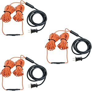 Hydrofarm JSHC48 Jump Start Water-Resistant Ground 48 Foot Heating Cable with Built-in Thermostat for Indoor/Outdoor Garden Containers, Cold Frames, and Soil (3 Pack)