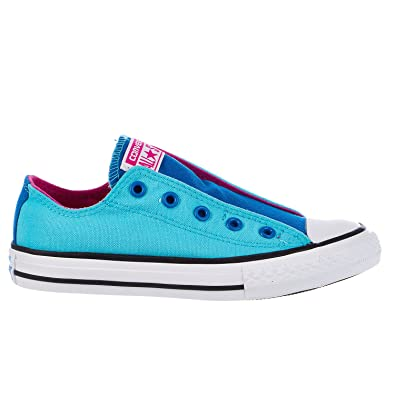 all star shoes for girls. converse chuck taylor all star slip ox fashion sneaker shoe - fresh cyan/soar/ shoes for girls p