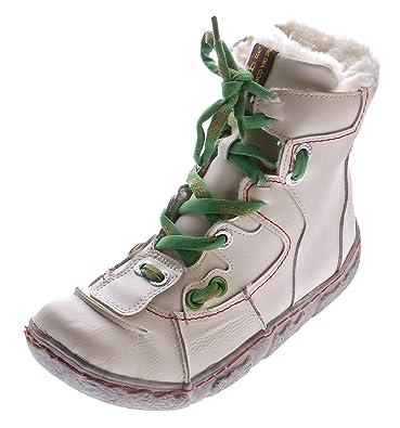 TMA Damen Leder Winter Stiefeletten gefüttert Knöchel Schuhe Schwarz Blau Grün Weiß Rot Knöchelschuhe im Used Look Stiefel